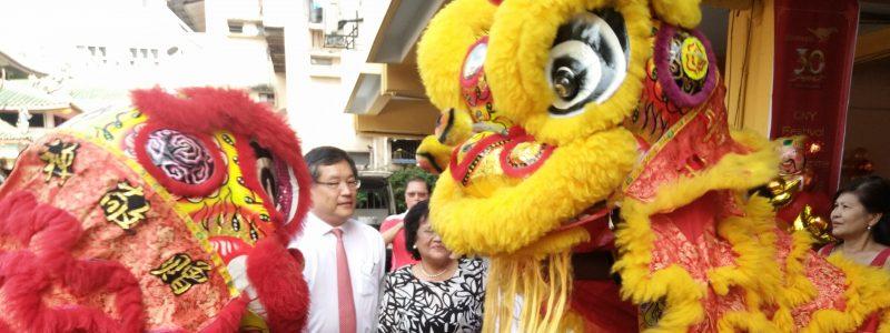 Pembukaan Tahun Baru Cina oleh Da Ma Cai di SAMH
