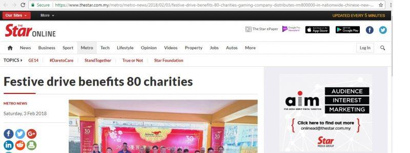 Festive drive benefits 80 charities